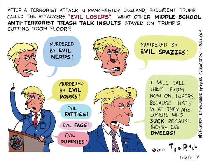 Before 'Evil Losers,' Trump Had These Equally Brilliant 7th Grade Insults To Consider [cartoon]
