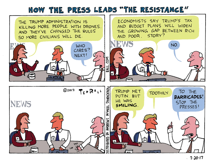 Ted Rall: Why Mainstream Media's Trump Coverage Is Failing Us [cartoon]