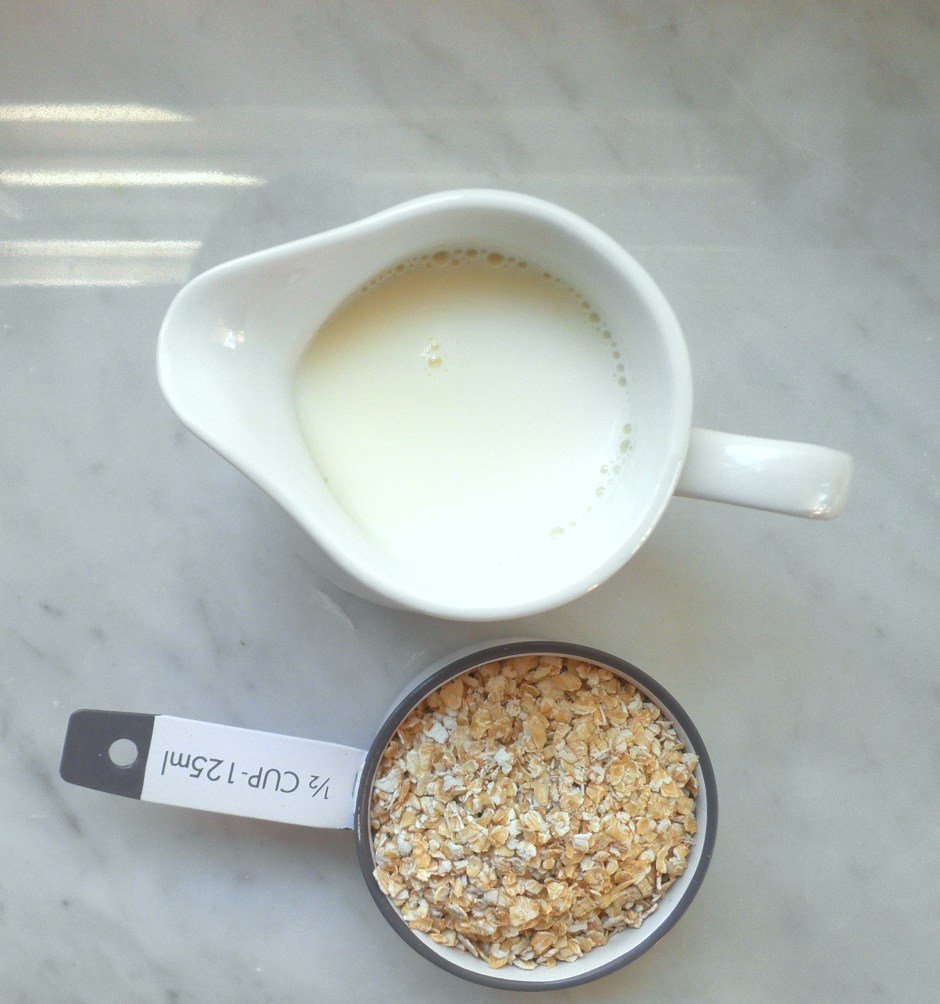 Quick oats and milk