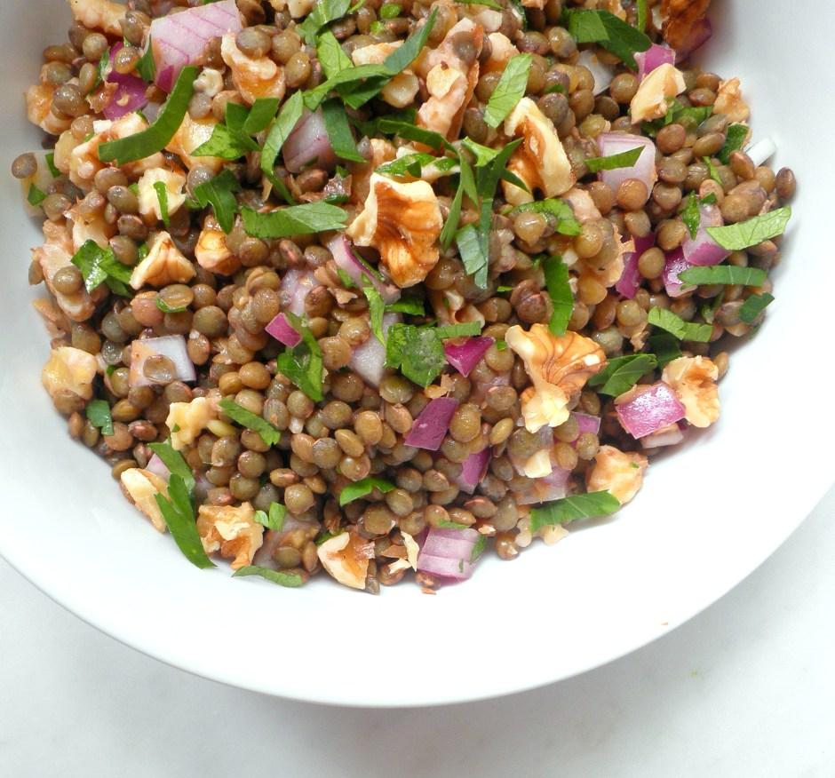 Lentil and walnut salad 3