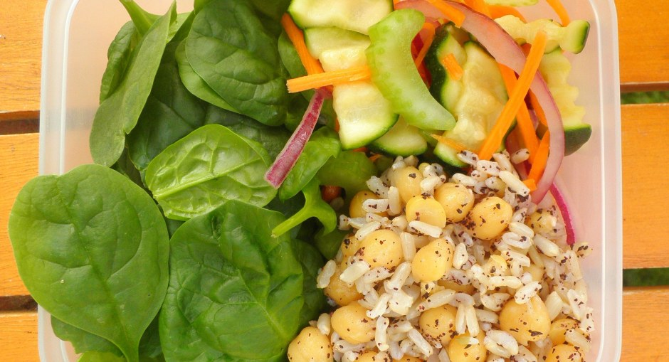Brown Rice and Chickpea Lunchbox