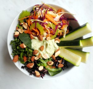 Rainbow Salad with Green Goddess Dressing