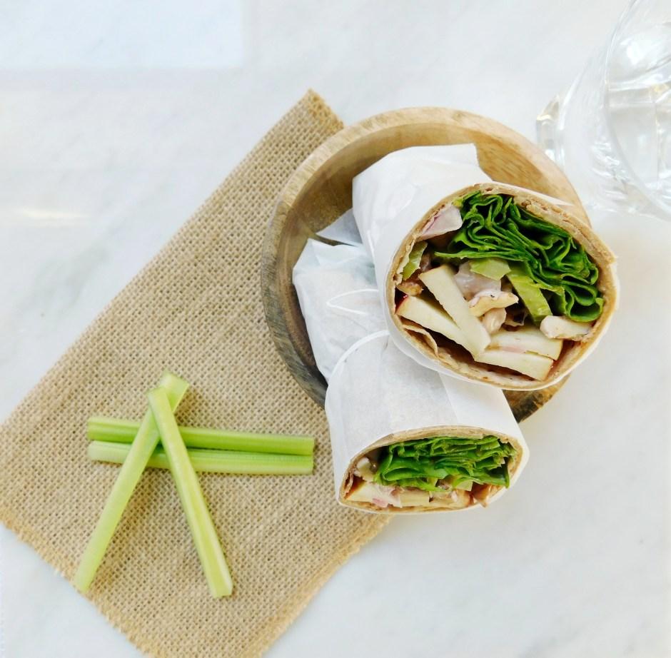 Vegan Waldorf Salad Wrap