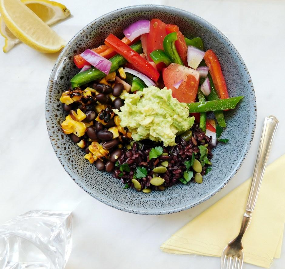 Black rice burrito bowl