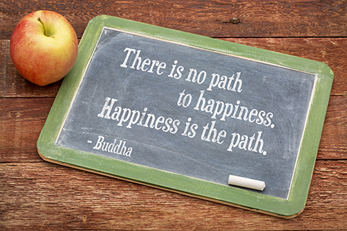 Happiness is the Path Buddha