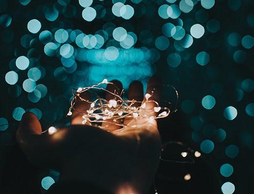 string lights - walk of faith