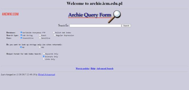 Archie Website