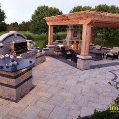 Outdoor Living Rooms Pictures Room Ideas For Small Condos Spaces Kitchens Fireplaces Ovens Unilock Paver Patio With Kitchen Pergola Fireplace