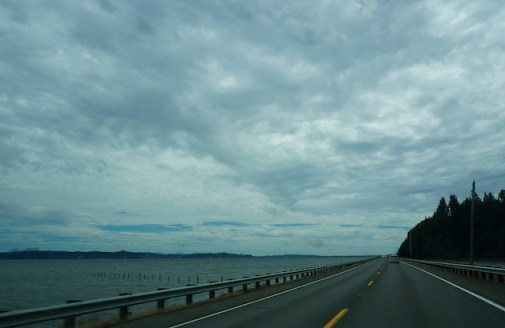 Driving from the Washington side