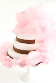 Tarta Boda con algodón de azúcar