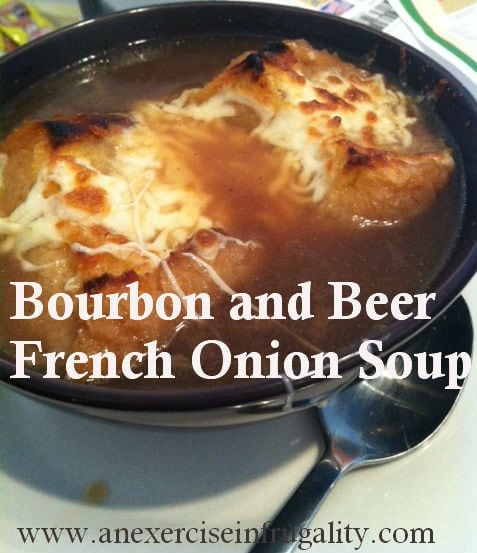 Bourbon and Beer French Onion Soup