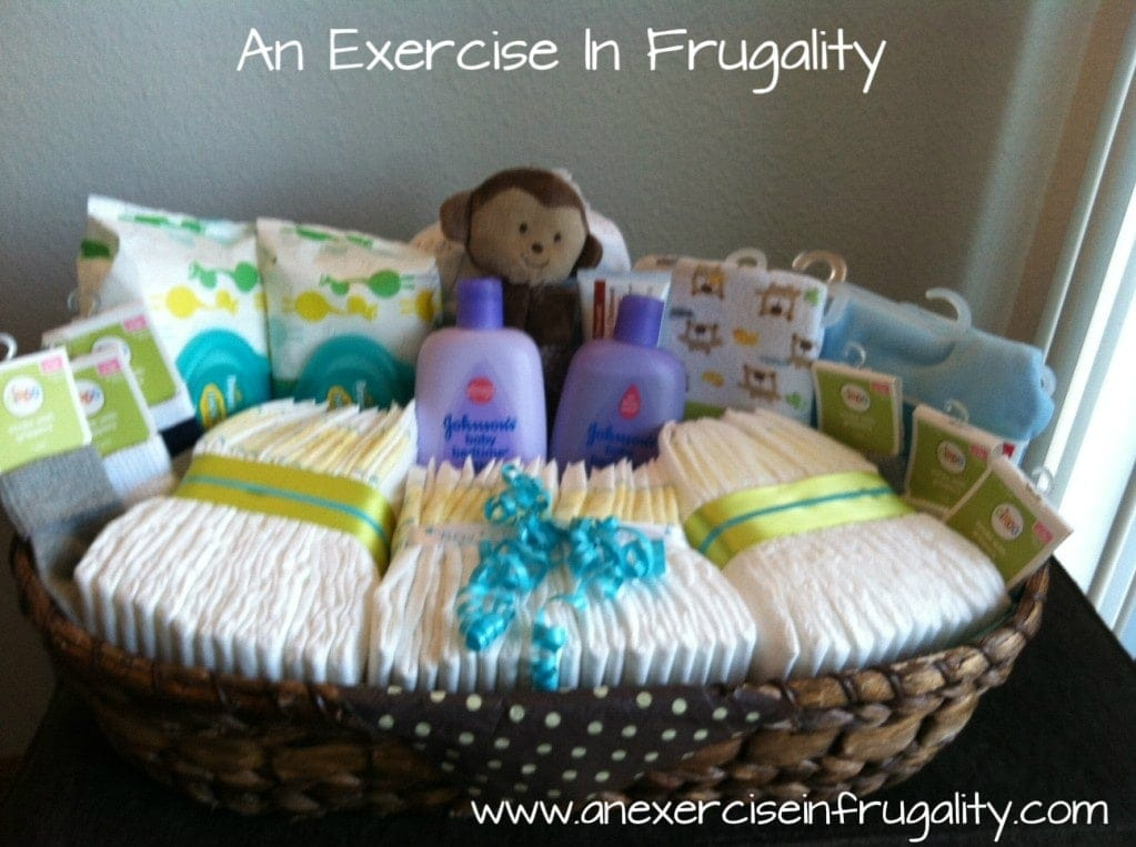 Baby Shower Basket Gift Idea  An Exercise in Frugality
