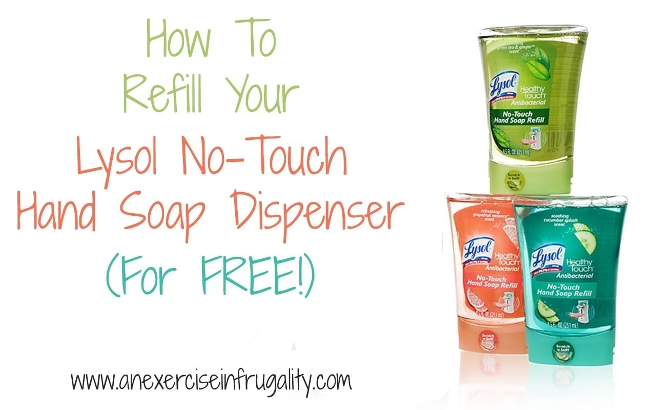 soap dispenser for kitchen cement sink how to refill your lysol no-touch in 5 easy ...