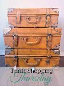 Thrift Shopping Thursday: Vintage Suitcases
