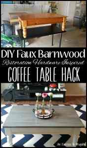 DIY Barnwood Coffee Table