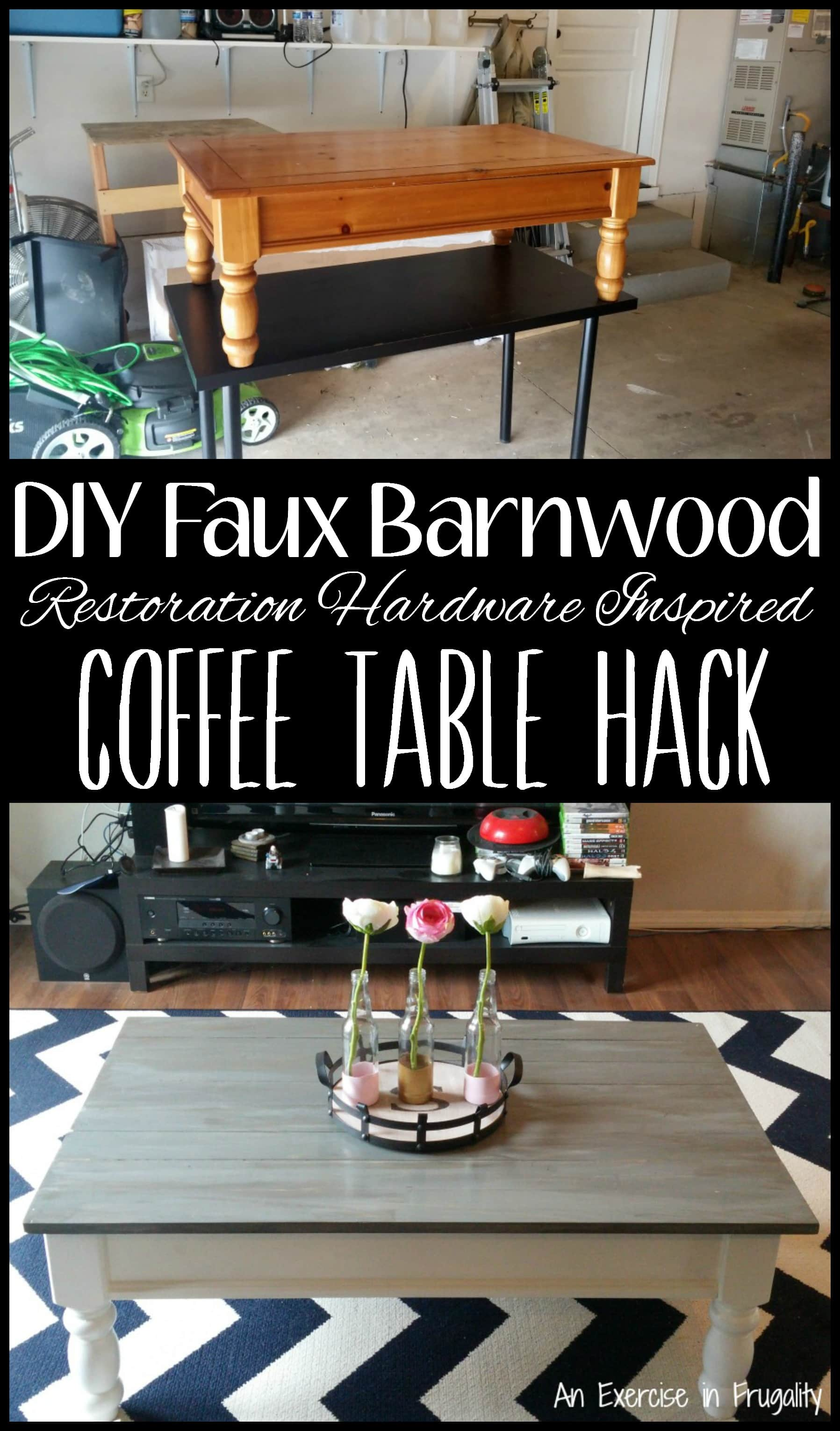 diy barnwood coffee table | an exercise in frugality