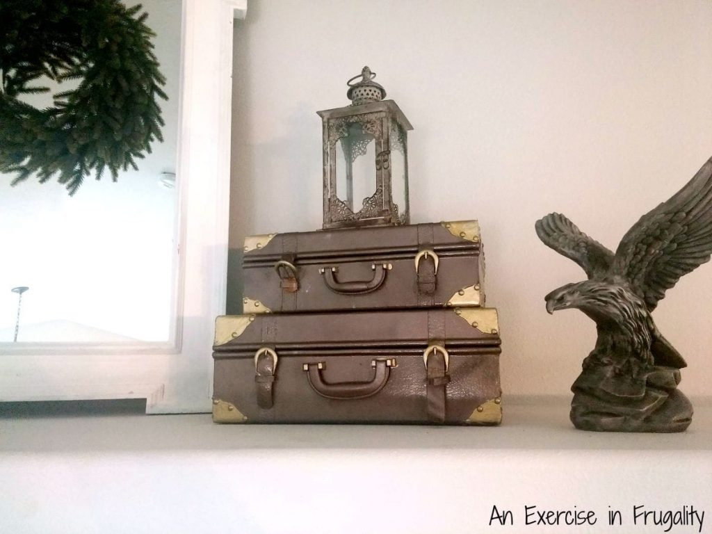 finished vintage suitcases
