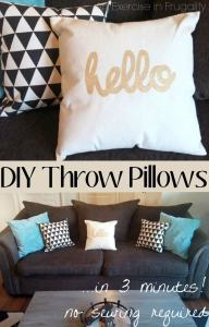 DIY No Sew Throw Pillows