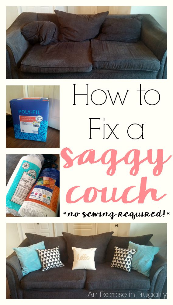 How to Fix a Sagging Couch  An Exercise in Frugality