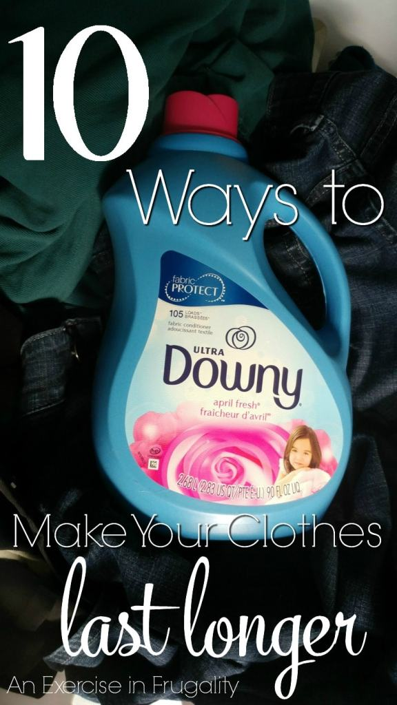 10 Tips to Make Your Clothes Last Longer-Using Downy Fabric Conditioner along with these excellent laundering tips will help you get the maximum life out of your clothes.