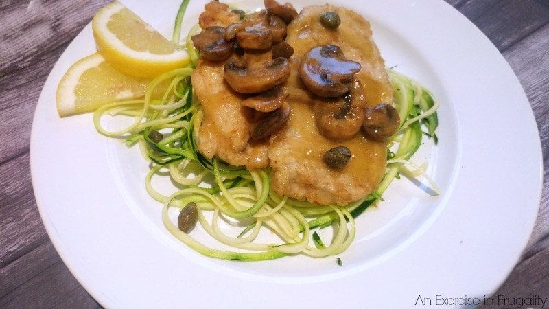 foster farms chicken scallopini with zoodles