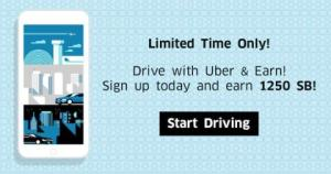 Earn Over $90 in Gift Cards While You Drive For Uber!