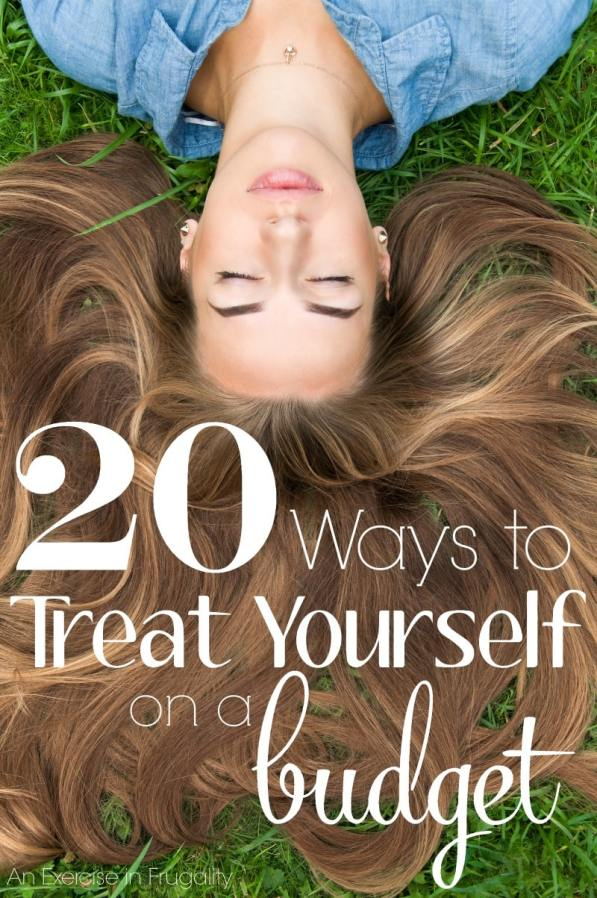 "20 Ways to Treat Yourself on a Budget- Sometimes when money is tight, we forget that we can still treat ourselves without spending a lot. Other times we splurge in the name of ""treating ourselves"" and wind up making our financial situation worse. These 20 ways you can treat yo'self will cost little to no money, but they'll make you feel like a million bucks!"