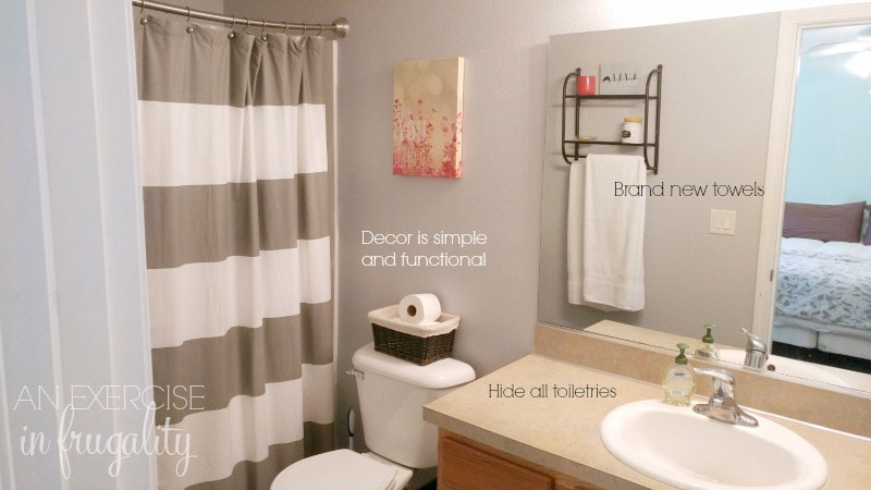 how to stage your house master bathroom
