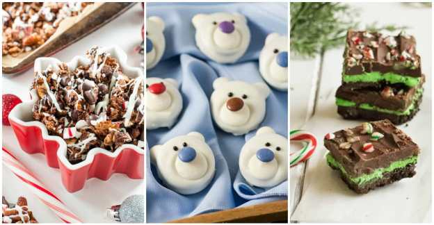 Easy Christmas Desserts That Will Blow Your Mind! These simple holiday treats are sure to make kids and adults alike jump for joy. Some are baked, some are no-bake but all of them are delicious, easy Christmas goodies so good you'll want to make them a family tradition! #Christmas #holiday #dessert #party #gathering #potluck #treat #sweettooth #candy