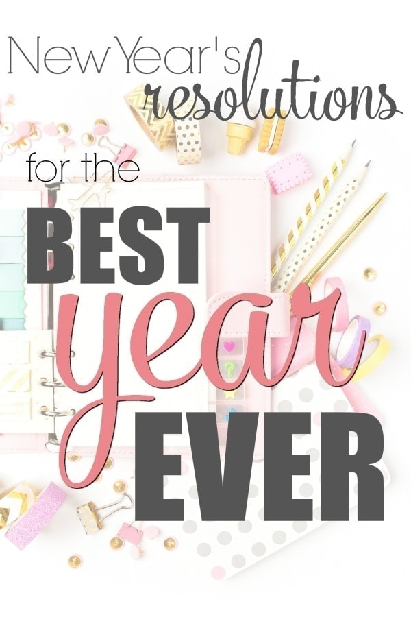Looking for the perfect New Year's Resolutions? We have you covered! There's tons of ideas here, but more importantly there's actionable steps to show you how to keep your New Year's Resolutions! Happy New Year, and make 2018 absolutely amazing!