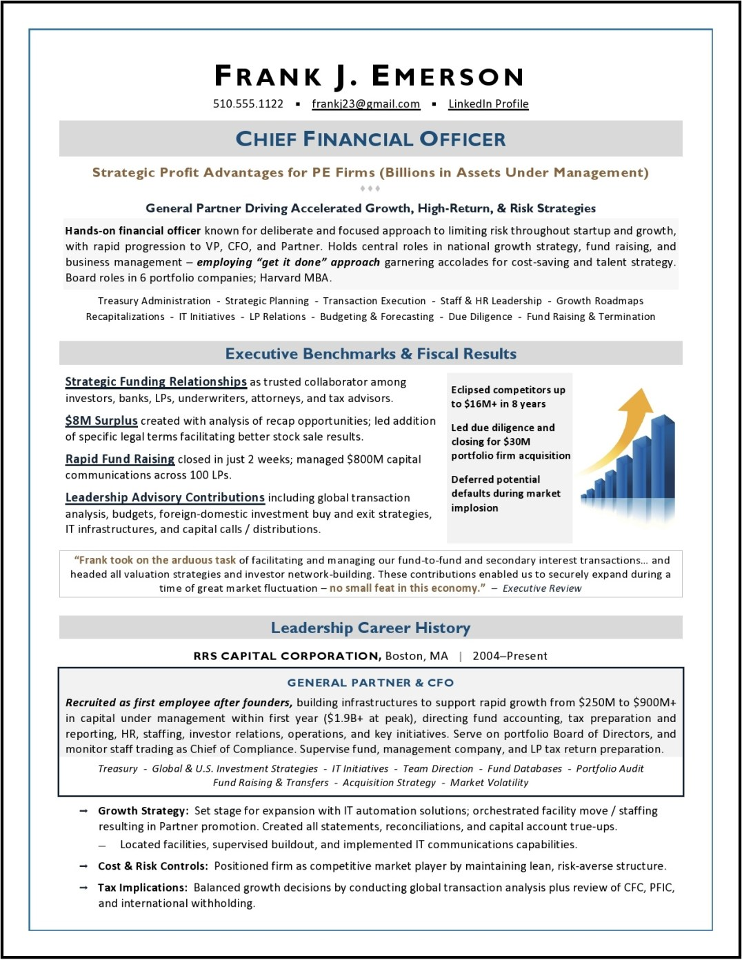 CFO Sample Resume by Laura Smith-Proulx