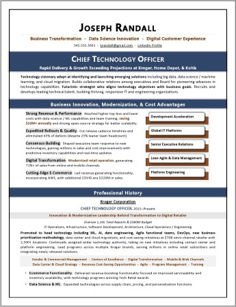 CTO Ecommerce Resume Sample by Laura Smith-Proulx