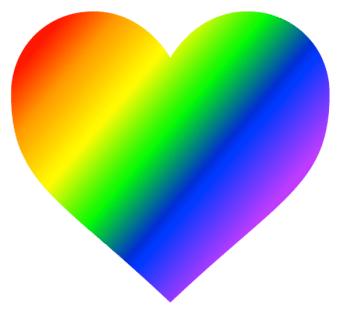 rainbow heart icon
