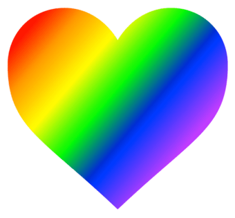 rainbow heart icon