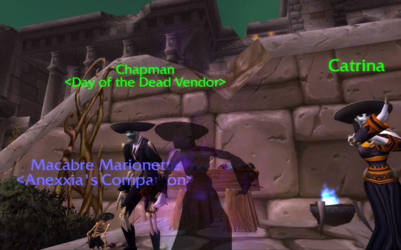 shadow priest in Day of the Dead ensemble
