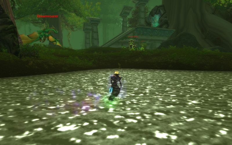 shadow priest spying on green dragons in Feralas