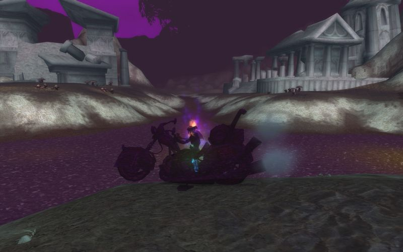 shadow priest on motorcycle, Desolace