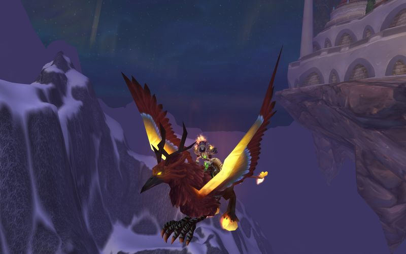 Priest on Blaxing Hippogryph TCG mount