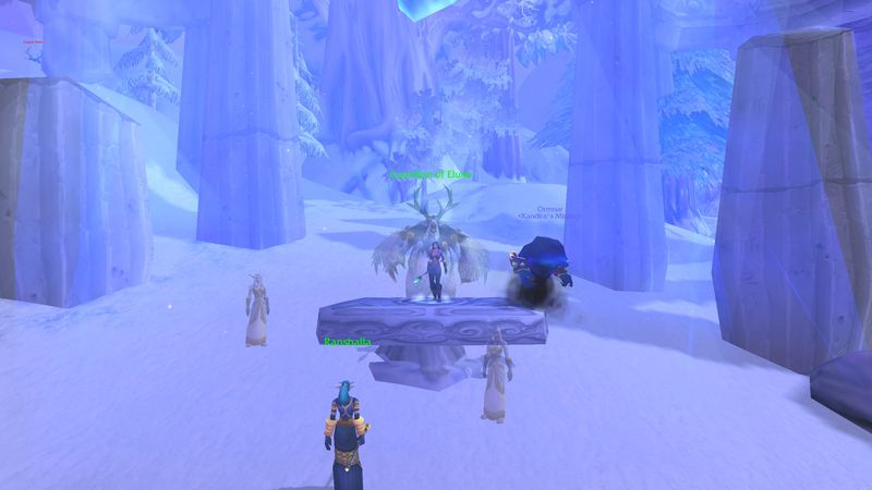 warlock uncovers the secret of the moonkin's origin in Winterspring