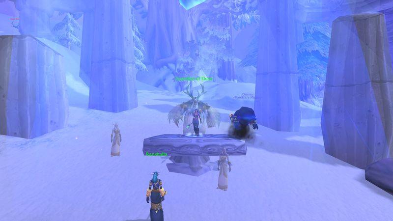 warlock uncovers the secret of the moonkin's origin in Winterspring