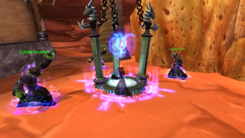 shadow priest Anexxia disrupting Doomsday Cultist summoning rituals in Orgrimmar