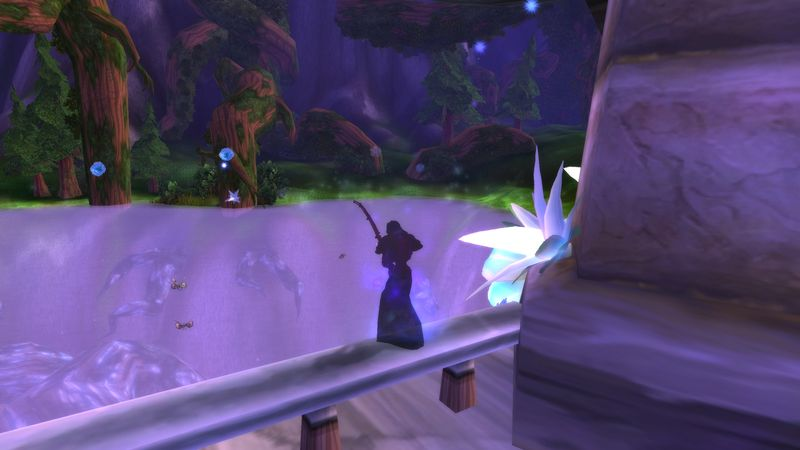 shadow priest fishing up volatiles to craft some new clothes