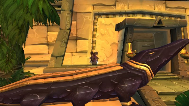 shadow priest blending in to the Lost City of the Tol'Vir Scenery