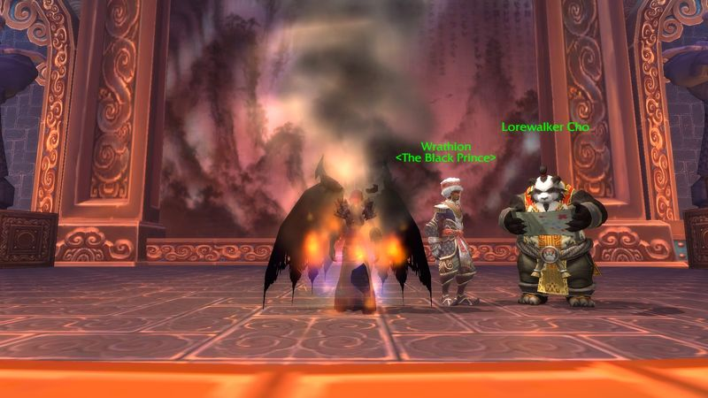 Anexxia getting her black wings of legendary doom from the Black Prince (a.k.a. legendary cloak quest line complete).
