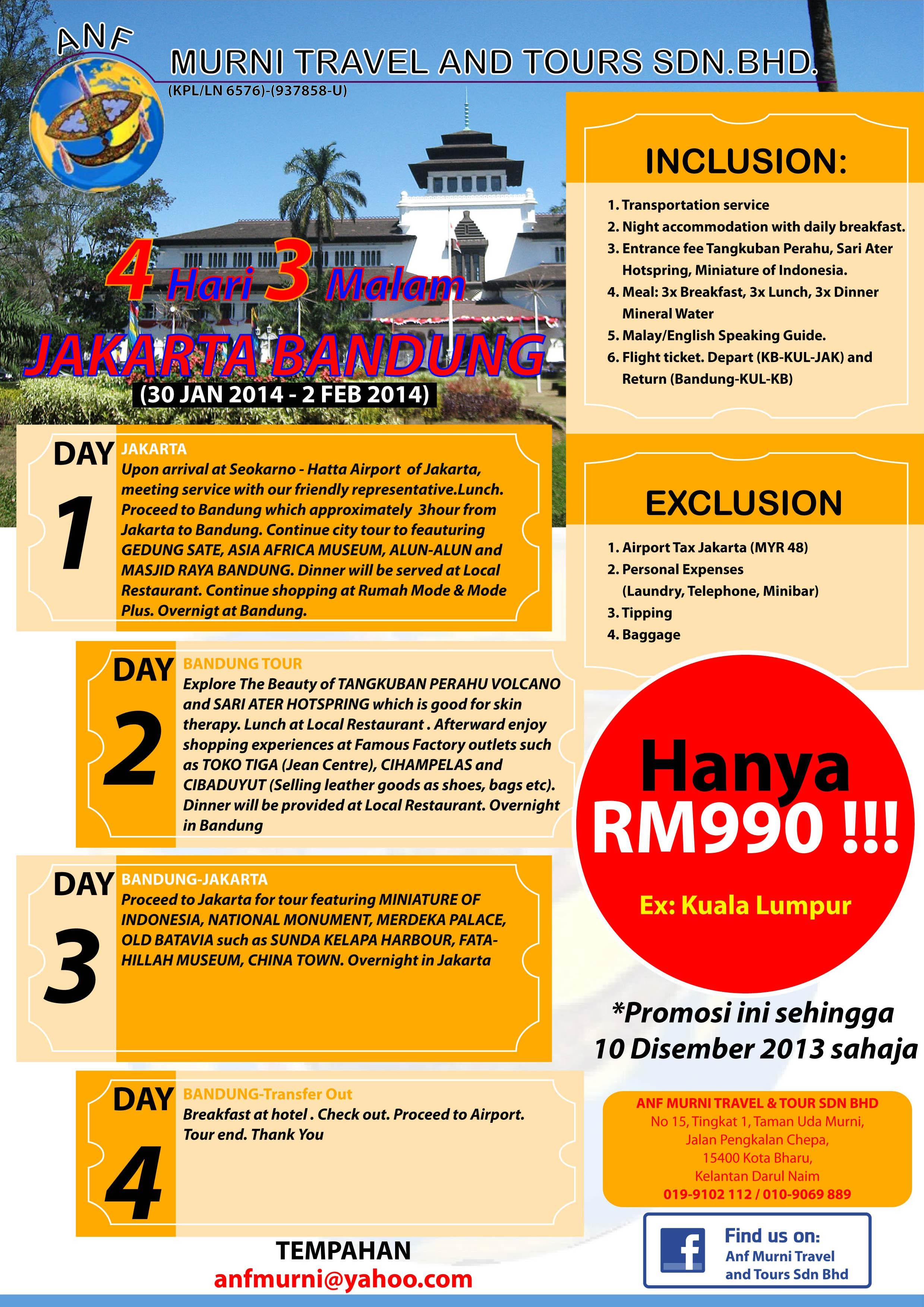 Harga Travel Bandung Jakarta : harga, travel, bandung, jakarta, Murni, Travel, Tours