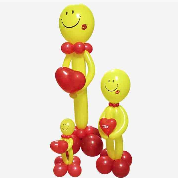 Фигура из шаров Смайл Влюбленный