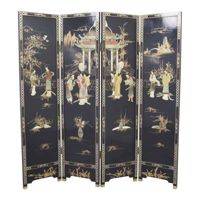 Chinoiserie panel room divider