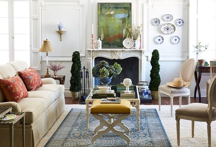 One Kings Lane grandmillenial style living room