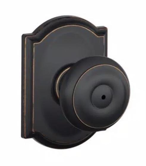 Schlage bronze georgian doorknob