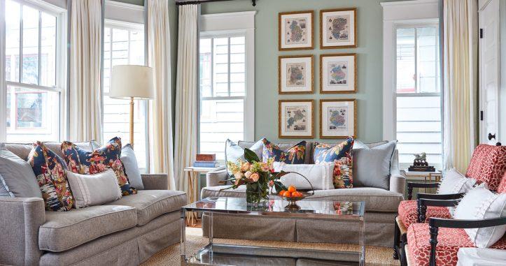 Maggie Griffin grandmillennial living room